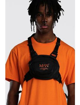 Man Utility Circular Chest Rig Bag by Boohoo