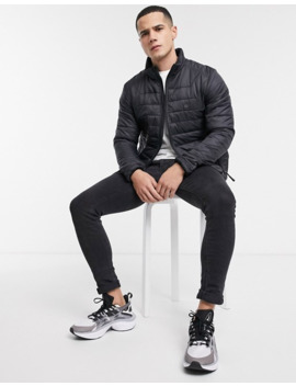 Le Breve Padded Puffer Jacket In Black by Asos