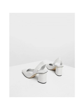 Square Toe Block Heels by Charles & Keith