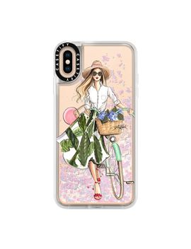 Hydrangea Hunt (Girl With Bike Fashion Illustration Transparent Case) by Casetify