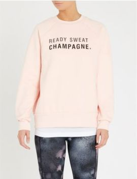 Champagne Print Cotton Blend Sweatshirt by Sweaty Betty