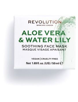 Revolution Skincare Aloe Vera & Water Lily Soothing Face Mask 50g by Revolution
