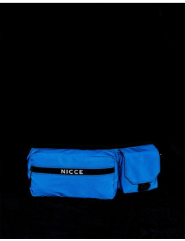 Nicce Cross Body Bag In Navy Reflective by Nicce