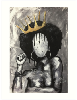 Naturally Queen Art Print by Da Cre8ive One