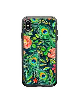 Peacock Feathers On Deep Emerald Green by Casetify