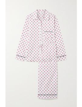 Printed Cotton Sateen Pajama Set by Pour Les Femmes