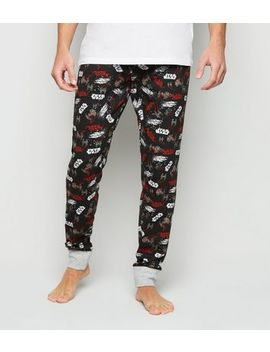Black Star Wars Pyjama Joggers by New Look