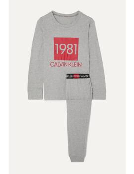 Printed Cotton Jersey Pajama Set by Calvin Klein Underwear