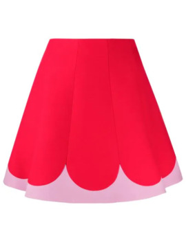 Two Tone A Line Skirt by Valentino