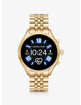 Lexington 2 Gold Tone Smartwatch by Michael Kors Access