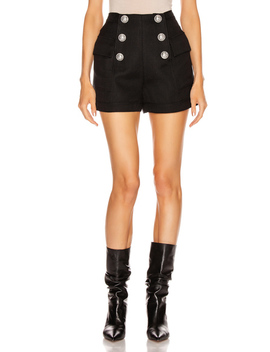 High Waisted Button Short by Balmain