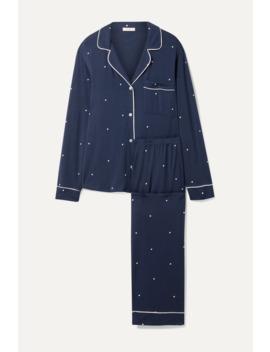 Sleep Chic Polka Dot Stretch Modal Pajama Set by Eberjey