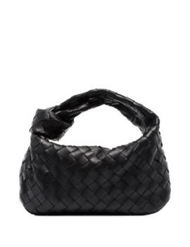 Mini Intrecciato Leather Pouch Bag by Bottega Veneta