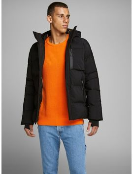 Hooded Puffer Jacket Hooded Puffer Jacket  Textured Knitted Pullover  Fred Tool Cj 087 Tapered Fit Jeans  Chunky Leather Sneakers by Jack & Jones