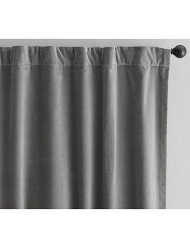 Velvet Twill Curtain   Flagstone by Pottery Barn
