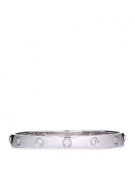Cartier 18 K White Gold 10 Diamond Love Bracelet 17 by Cartier