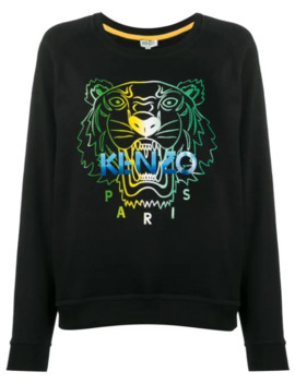 Tiger Head Print Sweatshirt by Kenzo