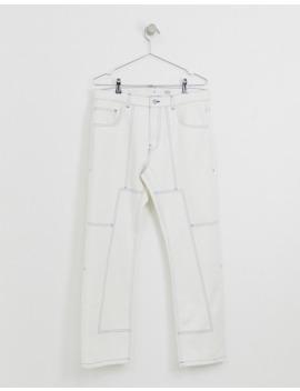 Noak – Jeans In Gebrochenem Weiß Mit Kontrastnähten by Asos
