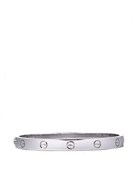 Cartier 18 K White Gold Love Bracelet 17 by Cartier