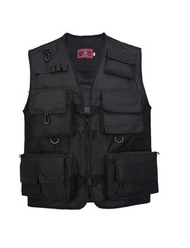 The Middle Men's Vest V Neck Photography Vest Outdoor Hiking Mesh Vest Male Sleeveless Jacket Multifunctional Fishing Vest by Ali Express.Com
