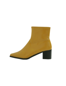 Square Toe Side Zip Ankle Boots by Stylenanda