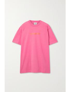 Oversized Appliquéd Jersey T Shirt by Vetements
