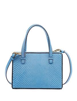 Postal Python Top Handle Bag by Loewe