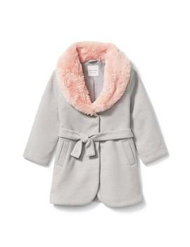 Faux Fur Trim Coat by Janie And Jack