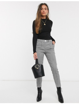 Vero Moda Petite Tapered Pants In Dogtooth by Vero Moda