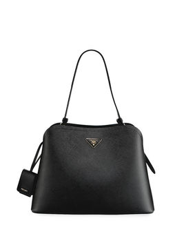 Large Matinee Top Handle Tote W/ Removable Crossbody Strap by Prada