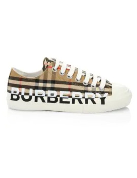 Larkhall Chunky Vintage Check Sneakers by Burberry
