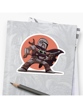 Mandalorian And Baby Yoda Sticker by Jennypool