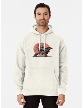 Mandalorian And Baby Yoda Pullover Hoodie by Jennypool