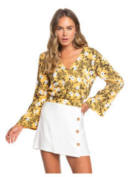 Like Gold Blouse by Roxy
