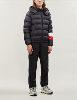Padded Shell And Down Blend Hooded Jacket by Moncler