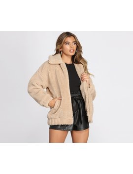 On It Over Sized Teddy Jacket by Windsor