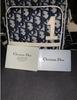 Vintage Christian Dior Monogram Blue Crossbody Bag Purse by Dior  ×