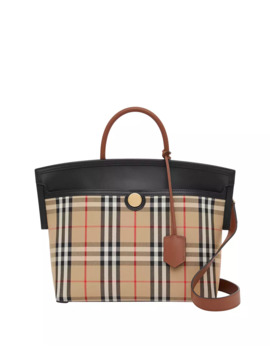 Society Small Vintage Check Top Handle Bag by Burberry
