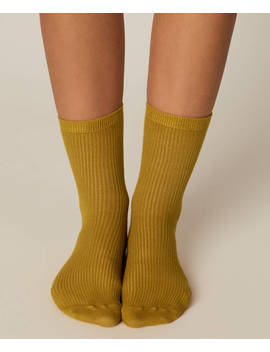 1 ζεύγος βασικές κάλτσες ριμπ by Oysho