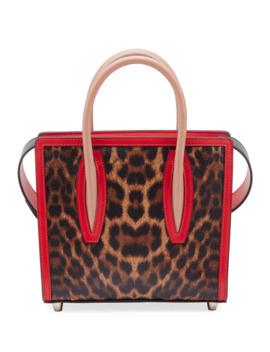 Paloma Small Mini Calf Emp Leo 50s Sole Top Handle Bag by Christian Louboutin