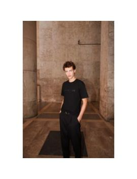 Black Cotton T Shirt With Logo by The Kooples