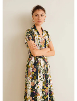 Floral Vintage Dress by Mango