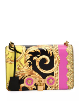 The Goddess Vitello Leather Crossbody Bag by Versace