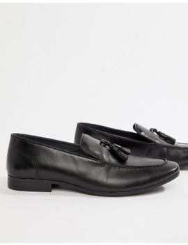 Silver Street High Shine Tassel Loafer In Black by Asos