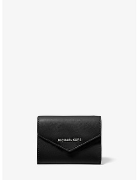 Medium Crossgrain Leather Envelope Wallet by Michael Michael Kors