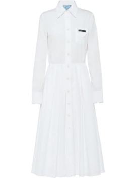 Pleated Shirt Dress by Prada