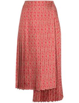 Gate Printed Midi Skirt by Fendi