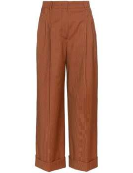 Micro Houndstooth Cropped Trousers by Fendi