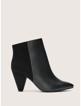 Wide Mix Media Pointed Toe Bootie   Addition Elle by Penningtons