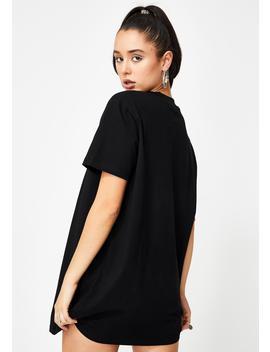 Stackin' Checks T Shirt Dress by Poster Grl
